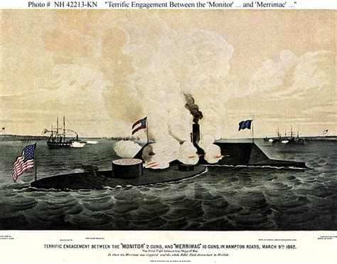 Civil War Naval Actions -- Action between USS Monitor and