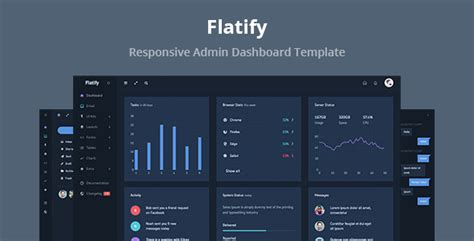 Flatify - Responsive Admin Dashboard Template by phantom