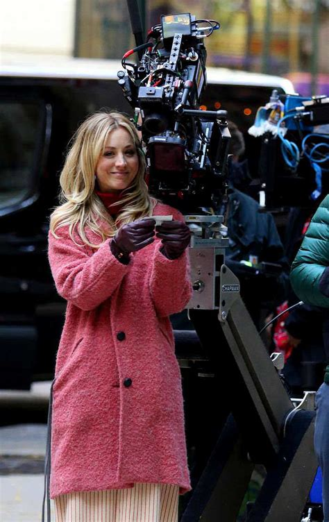Kaley Cuoco at The Flight Attendant Set in NYC