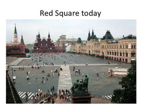 Lenin's body and red square